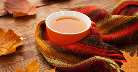 Coffee Cup in Scarf