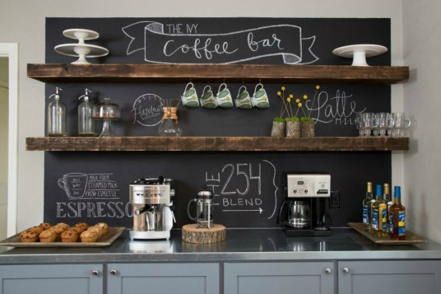 Chalked Home Coffee Station